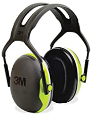 3M™ Peltor™ Over-The-Head Earmuffs, X1A, Black/Green