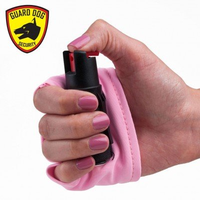 Guard Dog Instafire Runners Pepper Spray, Hottest Red Pepper Formula, Sweat Resistant, Fits in Hand, Pink
