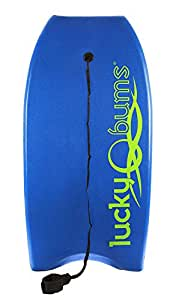 Lucky Bums Body Board with EPS Core, Slick Bottom, and Leash (Blue, 33-Inch)