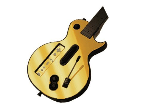 Guitar Hero III 3 (GH3) for Nintendo Wii Skin - NEW - GOLD CHROME MIRROR system skins faceplate decal mod - Golds Wii