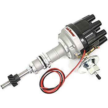 Pertronix D134610 Flame-Thrower Black Cap Vacuum Advance Electronic Distributor with Ignitor Technology for Ford 351W