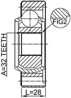 Propshaft Cv Joint 32X86 Febest 1911-E46SHA Oem 26117548392