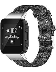 DKEnjoy Nylon Wristband Replacement Accessory Sports Watch Straps Bracelet Compatible for Garmin Forerunner 30/35/35J Smartwatch