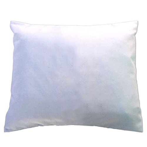 Crib/Toddler Flannel Baby Pillow Case - Light Solids - White - Made In USA by SHEETWORLD.COM