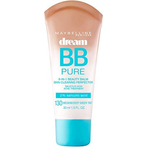 Maybelline Makeup Dream Pure BB Cream, Medium/Deep Skintones, BB Cream Face Makeup, 1 fl oz (Oil Powder Skin Clearing Free)