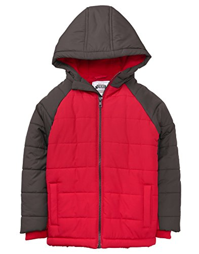 Gymboree Boys' Little Colorblock Jacket, RED, L