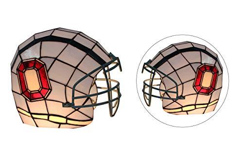 Yogoart NCAA Oregon Ducks Stained Glass Helmet Light Blue Table Lamp 10.8