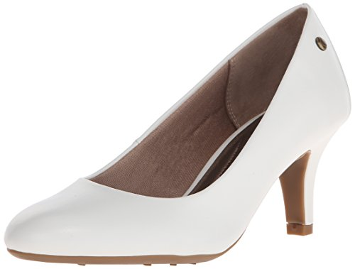 LifeStride Women's Parigi Dress Pump, White, 9 N US