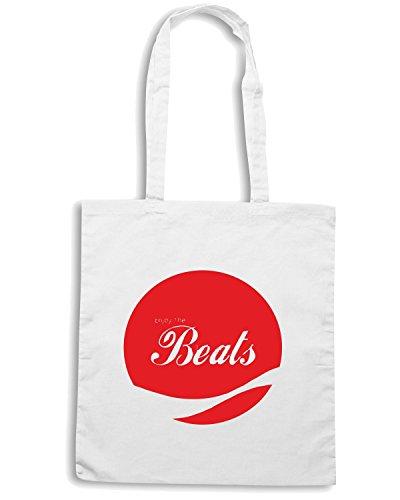 T-Shirtshock - Bolsa para la compra ENJOY0088 Enjoy the Beats Blanco