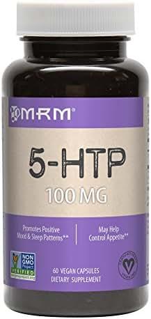 MRM 5-HTP Vegetarian Capsules, 100 mg, 60-Count Bottles