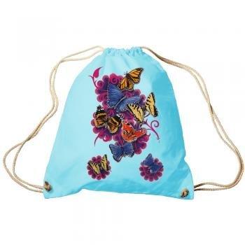 trend-bag ZAINO BORSA SPORTIVA ZAINO con stampa - Farfalle - tb65324 colore celeste
