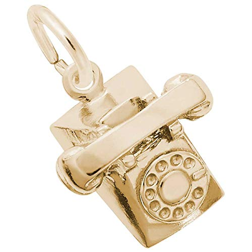 (Rembrandt Charms Telephone Charm, 10K Yellow Gold)