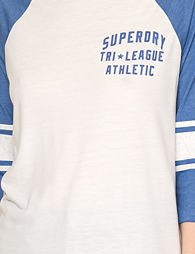 Superdry Women's Tri League Baseball Top Women's Long Sleeved Top White