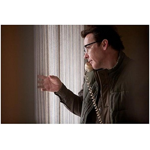 (The Frozen Ground (2013) 8 Inch x10 Inch Photo John Cusack Wearing Glasses on Telephone Looking Out Window kn)