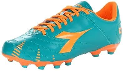 Diadora Soccer Men's Evoluzione R MG 14 Soccer Cleat,Aqua/Tangerine,8 M US