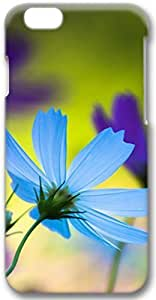 Blue & Purple Flowers Apple iPhone 6 Plus Case, 3D iPhone 6 Plus Cases Hard Shell Cover Skin Casess