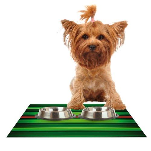 KESS InHouse Matthias Hennig Stripes Feeding Mat for Pet Bowl, 18 by 13-Inch