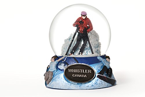 Whistler Snow - Ski Whistler Canada Snow Globe 65mm