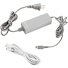 Wii U GamePad Charger - Interchangable Power Charging Adapter, Power Supply Cord AC Adapter & Cable for Nintendo WiiU GamePad (AC Adapter+USB Charging Cable)
