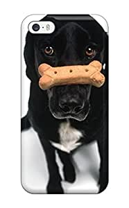 Andrew Cardin's Shop 6160796K80806893 Durable Black Dog Back Case/cover For Iphone 5/5s