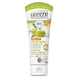 lavera 2 en 1 Crème à Mains & Ongles Soin – Vegan – Cosmétiques naturels – Ingrédients végétaux bio – 100% naturel 75ml