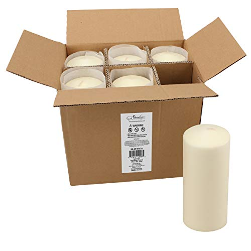 Stonebriar 80 Hour Long Burning Unscented Pillar Candles, 3x8, Ivory