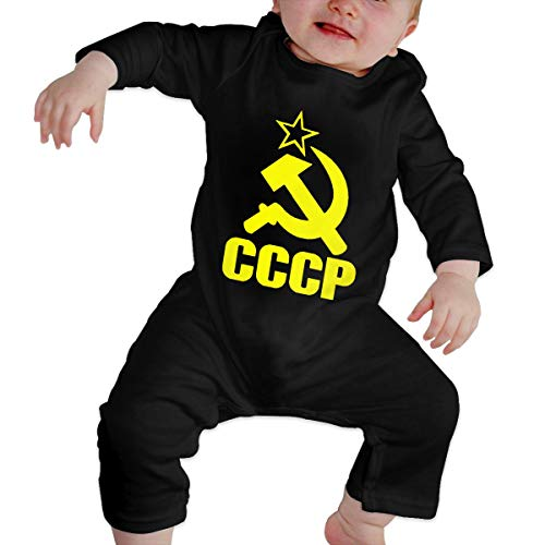 OPQRSTQ-O Russian CCCP Newborn Toddler Baby Long-Sleeved Kawaii Jumpsuits Playsuit Outfits