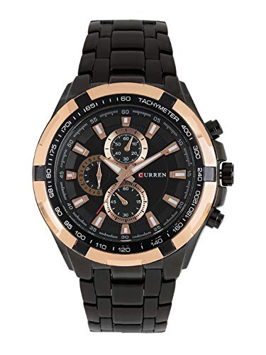 CURREN Analog Black Dial Men #39;s Watch CUR012