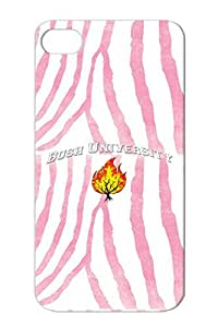Religion Philosophy Christianity TPU White Case Cover For Iphone 4/4s Bush University1