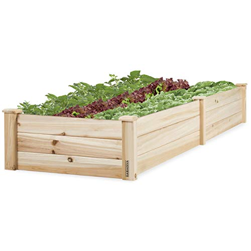 (SABADIVA Raised Garden Bed Planter Boxes Outdoor   1 Pc Standing Planter Herb Box Elevated Wooden Garden Bed Planter for Garden Yard Lawn)