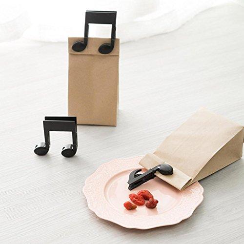YJYdada Musical Symbols Kitchen Storage Food Seal Bags Seal Clamps Plastic Tools