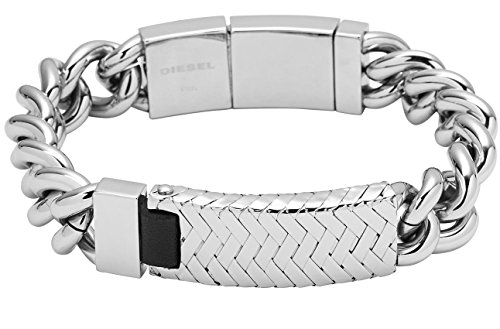 Diesel Men's Wrapped Stainless Steel ID Bracelet DX0869040 with Gift Box