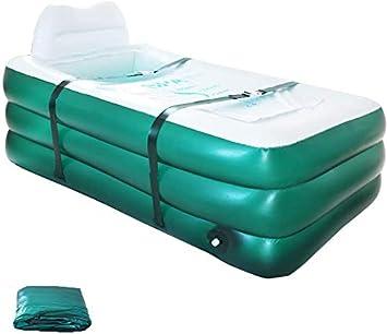 Bañera hinchable plegable para adultos, bañera familiar, mantiene el calor de suelo grueso, para niños, piscina hinchable para niños, piscina infantil (verde)