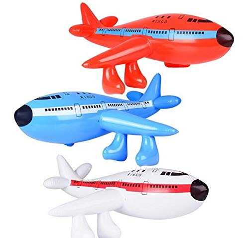 Rhode Island Novelty 33 Inch Inflatable Jet 747 Airplane Sold as One Piece
