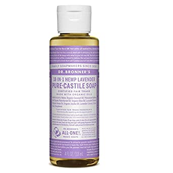 Dr Bronners Magic Soap All One Csla04 4 Oz Lavender 18 In 1 Dr. Bronner'S Liquid Soap