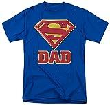 Super Dad Shield -- Superman Adult T-Shirt, Medium