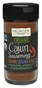 Frontier Cajun Seasoning Certified Organic, 2.08-Ounce Bottle