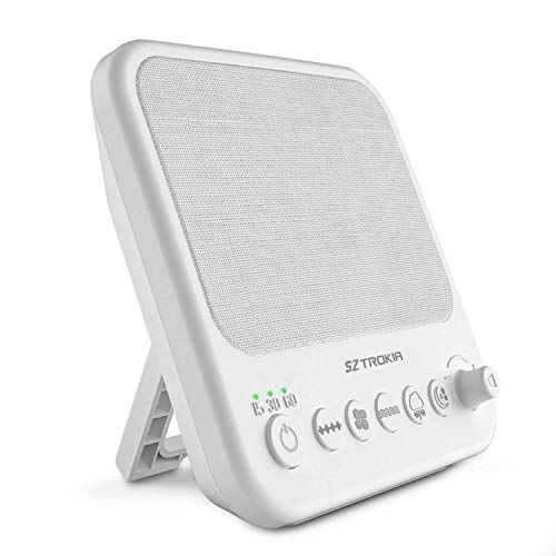 White Noise Machine, SZTROKIA Sound Machine for Sleeping, Sound Therapy with 10 Nature Sound and 3 Auto-Off Timer, with USB Output Charger Portable for Home, Office, Travel, Baby by Sztrokia