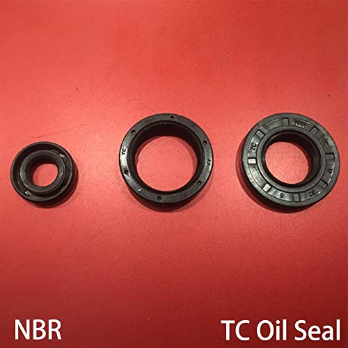 (Gimax 38627/8/9/10/12 38x62x7/8/9/10/12 Black Nitrile Rubber NBR Double Lips Spring TC Ring Gasket Radial Shaft Skeleton Oil Seal - (Size: 38x62x9))