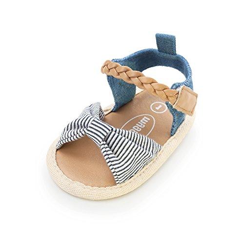 Baby Girl Sandals - Soft Sole Infant Girl Summer Crib Shoes Princess Dress Flats