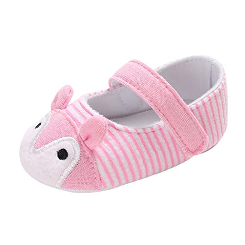 NUWFOR Infant Newborn Baby Girls Prewalker Cartoon Animal Ears Soft Sole Single Shoes(Pink,6~12 Month) by NUWFOR (Image #9)