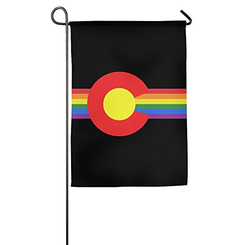 LLiYing-D Colorado State Flag Gay Pride Funny Celebration Flag ()