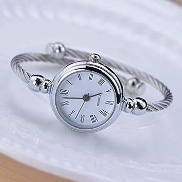 WZFCSAEAE Plata Simple Relojes Mujer Elegante Pequeña Pulsera Reloj Femenino 2018 Moda Marca Roman Dial Retro