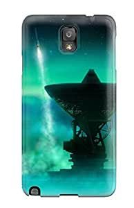 MJotnRA189fTikY HermanLWilliams Antennas And The Northern Lights Durable Galaxy Note 3 Tpu Flexible Soft Case