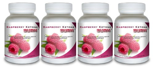 Framboise Burn cétone (4 bouteilles) - Hautement concentré Framboise cétones Supplément Fat Burner. Le nouveau Best All Natural Weight Loss Formula Diète. 500mg