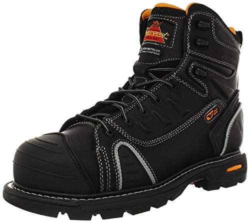 Thorogood Gen-Flex 6-Inch Lace-Toe Composite Work Boot, Black Leather, 12 M US