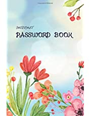 Internet password book: 6 x 9  Internet and Website Login code, Logbook for protect your usernames. Beautiful  flower on bokeh background. Gift for Flower lover