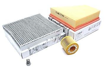 Original Volkswagen Polo 9 N 1.2L Service ATEC filtro aceite Polen Filtro de aire de 3 Cilindro Motor BMD BBM bzg: Amazon.es: Coche y moto