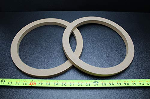 2 MDF Speaker Ring Spacer 10 INCH Wood 3/4 Thick Fiberglass Box ENCLOSE RING-10R (Fiberglass Speaker Box)