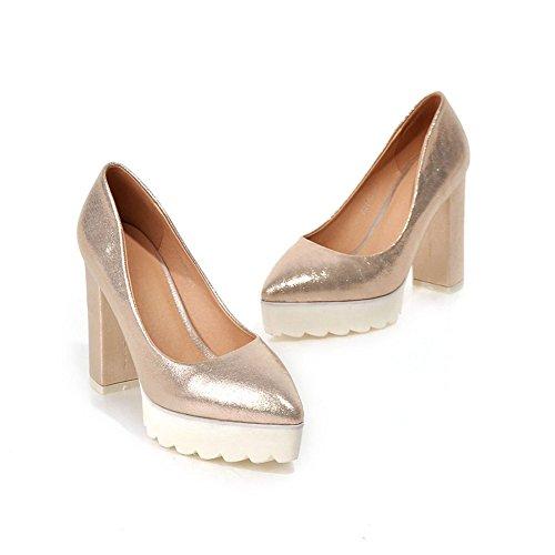 Plate-forme Minivog Femmes Talon Haut Talon Chaussures Or